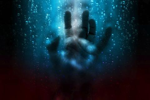 hand blue